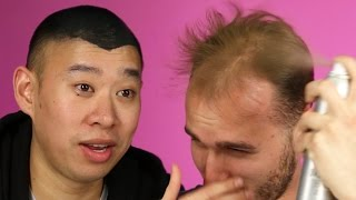 Download Balding Men Try Spray-On Hair Video