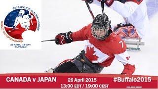 Download Canada v Japan | Prelim | 2015 IPC Ice Sledge Hockey World Championships A-Pool, Buffalo Video