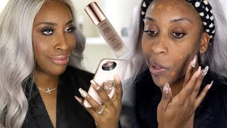 Download Matching Your Foundation With Your iPHONE?! Fresh Faced Liquid Foundation Demo   Jackie Aina Video