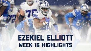 Download Ezekiel Elliott 80 Rush Yards & 2 TDs! | Lions vs. Cowboys | NFL Week 16 Player Highlights Video