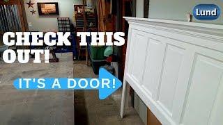 Download Beautiful DIY HEADBOARD from an old wood door! Its EASY Video