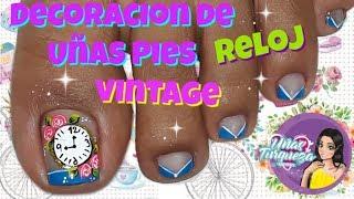 Download Diseño de uñas Rosas vintage - Vintage flowers nail art-Decoracion de Uña Relog Video
