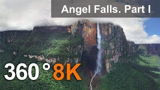 Download 360°, Angel Falls, Venezuela. Part I. Aerial 8K video Video