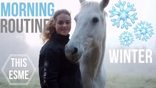 Download Winter Stable Morning Routine | This Esme Video