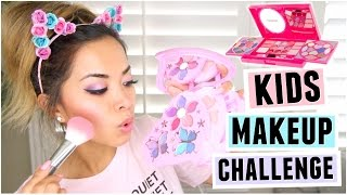Download FULL FACE USING ONLY KIDS MAKEUP Challenge! Video