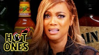 Download Tyra Banks Cries For Her Mom While Eating Spicy Wings | Hot Ones Video