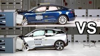 Download 2017 BMW i3 Vs 2016 Tesla Model S - Crash Test Video