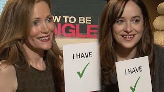 Download Never Have I Ever w/ ″How to Be Single″ Cast - Leslie Mann, Dakota Johnson Talk Sexting & More Video