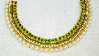 Download How To Make Bridal Necklace // Designer Necklace // DIY // Chokar // Home Made Tutorial Video