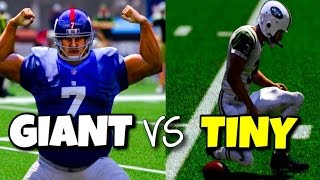 Download GIANT PLAYERS VS TINY PLAYERS - MADDEN 17 CHALLENGE Video