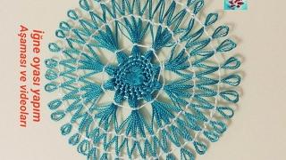 Download İğnelik ile motif yapımı | 40 iğne motif yapımı | needle lace tutorial Video