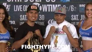 Download MIKEY GARCIA TRADES WORDS WITH TEAM ROJAS; GETS HEATED DURING FACE OFF Video