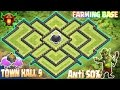 Download Coc Th9 farming base 2017. Town Hall 9 Best Defense Strategy Clash Of Clans New Update Video