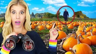 Download Spying on Ex GAME MASTER SPY at Abandoned Halloween Pumpkin Patch Hideout (Escape Room in Real Life) Video
