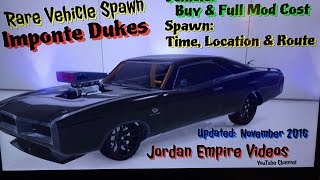 Download GTA 5 : Rare Vehicle Spawn ″Imponte Dukes″ Spawn Location Times and Route With Full Mod & Buy Cost Video