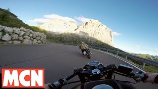 Download Café racers in the Dolomites with GoPro | Features | Motorcyclenews Video