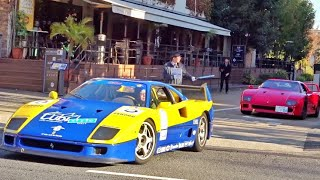 Download 【東京】F40が3台❗️他スーパーカー目撃 加速サウンド/Supercars sound in Tokyo. 3xF40, Huracan, Speciale and more Video