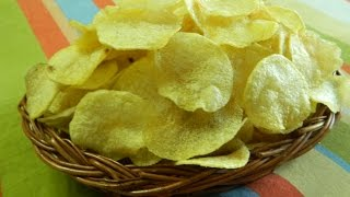Download Home Made Instant Crispy Potato Wafer~Potato Wafer~Potato Chips~आलू चिप्स~Food Connection Video