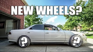 Download TEST FITTING WHEELS ON THE JZX90! Video