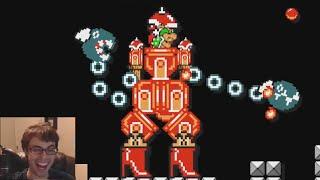 Download Mario Maker - The Most Creative Level I've Played! Super Mario vs Mecha Bowzilla Video