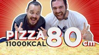 Download Desafio da pizza gigante que nunca foi ao ar! (80cm, ~4kg, 11300kcal) Video