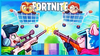 Download *HILARIOUS* SNIPERS vs SHOPPING CARTS Custom Game in Fortnite: Battle Royale! (Playground Mini Game) Video