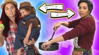 Download Coworkers SWAP LIVES & Families for a Day! Video