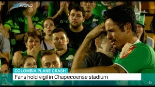 Download Colombia Plane Crash: Fans hold vigil in Chapecoense stadium Video
