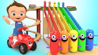 Download Learn Colors for Children with Baby Game Play Wooden Toy Funny Clown Tumbling 3D Kids Educational Video
