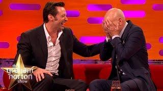 Download Hugh Jackman Loses It Over Sir Patrick Stewart's Ridiculous Circumcision Story - Graham Norton Show Video