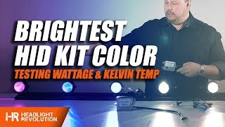 Download Which HID Headlight Color is the Brightest? 35w or 55w? Color Shift and Lux Explained! Video
