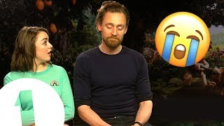 Download ″It's an involuntary eye-watering situation!″ Tom Hiddleston & Maisie Williams play Trivia Buster. Video