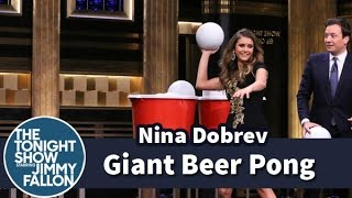 Download Giant Beer Pong with Nina Dobrev Video