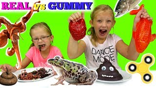 Download REAL vs GUMMY FOOD Video