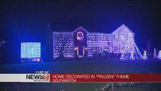 Download Southington house synchronizes holiday light show to Disney's ″Frozen″ Video