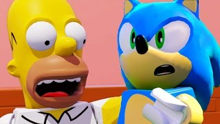 Download LEGO Dimensions Sonic The Hedgehog & The Simpsons All Cut Scenes & Ending 4k UHD 2160p Video