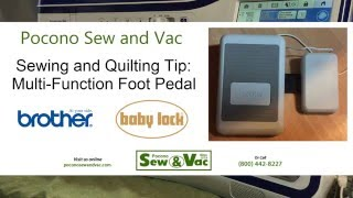 Download PSV: Sewing & Quilting Tip 1: Brother/Babylock Multi-Function Foot Pedal Trick Video