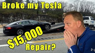Download Broke my Tesla. They are not cheap to fix. Video