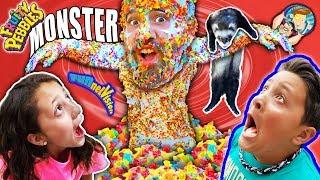 Download CEREAL MONSTER Joke w/ FV Family & Dallas the Pizza Guy Video