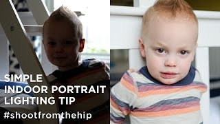 Download Indoor Portrait Lighting Tip - Shoot from the Hip Photography Vlog (Ep #4) Video