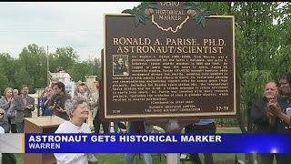 Download Historical marker placed in memory of Warren astronaut and scientist Video