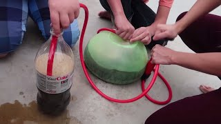 Download Super Wubble Bubble Ball Mentos Diet Coke Fun Experiment for Kids!! Video