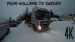 Download [4K] From Holland To Sweden Trucking In Extreme Winter Gopro 5 Video