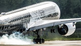 Download AIRBUS A350 near VERTICAL TAKEOFF and great VISUAL APPROACH - ILA 2018 Airshow (4K) Video
