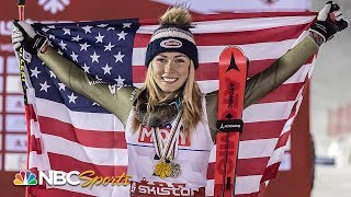 Download Witness Mikaela Shiffrin make history with fourth consecutive slalom title | NBC Sports Video