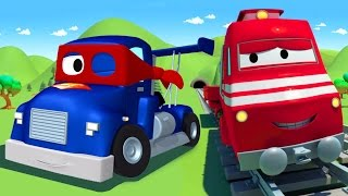 Download Troy The Train and Carl the Super Truck in Car City 🚆🚛 Cars & Trucks Cartoons for Children Video