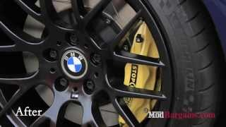 Download 2004 BMW E46 M3 gets Stoptech Big Brake Kit and Avant Garde Rims installed at Modbargains Video