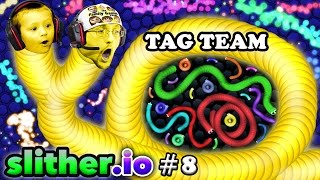 Download SLITHER.io #8: EAT MY DOTS QUICK! Father & Son Tag Team (FGTEEV Duddy & Chase Multiplayer Server) Video