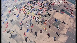 Download 217 People Skydiving At Once Video