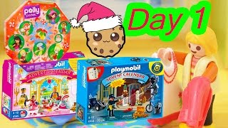 Download Polly Pocket, Playmobil Holiday Christmas Advent Calendar Day 1 Toy Surprise Opening Video